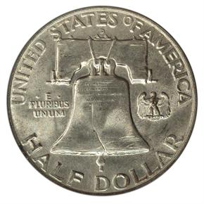 1957 D 50C MS reverse