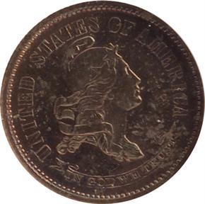 1870 J-837 10C PF obverse