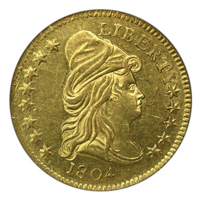 1804 14 STARS REV $2.5 MS obverse