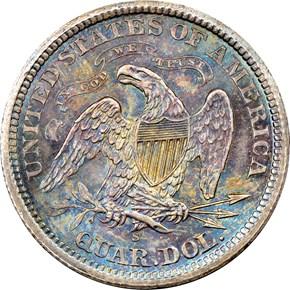 1873 S ARROWS 25C MS reverse
