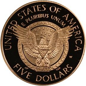 1997 W F.D. ROOSEVELT $5 PF reverse