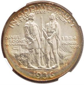 1936 S BOONE 50C MS reverse