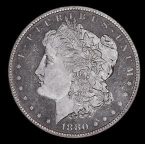 1880 S$1 MS obverse