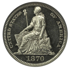 1870 J-815 H10C PF obverse