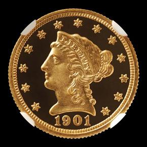 1901 $2.5 PF obverse