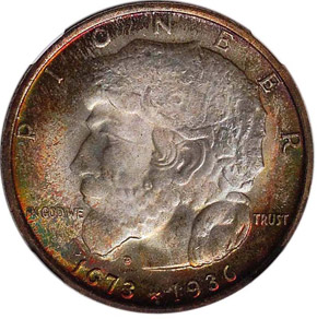 1936 ELGIN 50C MS obverse