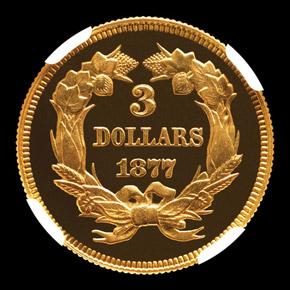 1877 $3 PF reverse