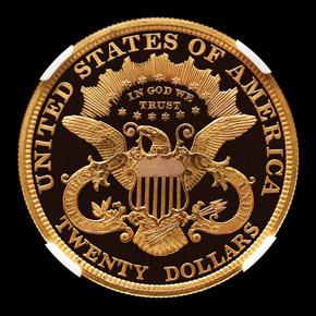 1877 $20 PF reverse