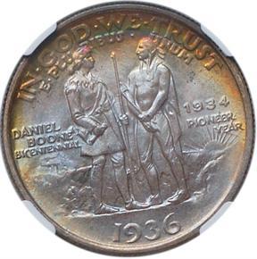 1936 BOONE 50C MS reverse