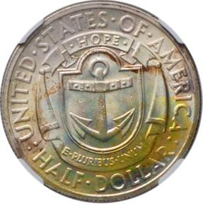 1936 RHODE ISLAND 50C MS reverse