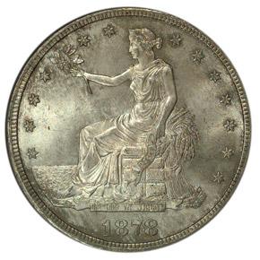 1878 S T$1 MS obverse