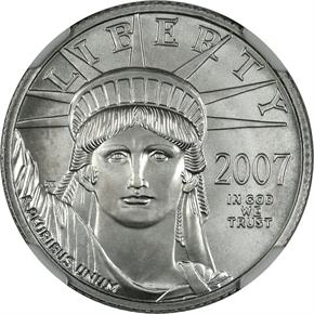 2007 W EAGLE P$25 MS obverse