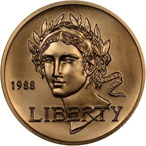 1988 W OLYMPICS $5 MS obverse