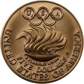 1988 W OLYMPICS $5 MS reverse
