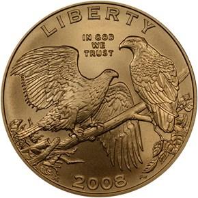 2008 W BALD EAGLE $5 MS obverse