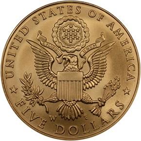 2008 W BALD EAGLE $5 MS reverse