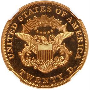 1860 $20 PF reverse
