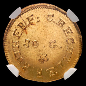 (1831-34) C.BECHTLER 30G G$1 MS obverse