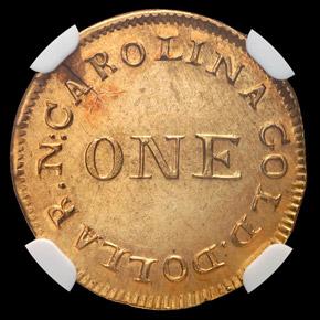 (1831-34) C.BECHTLER 30G G$1 MS reverse