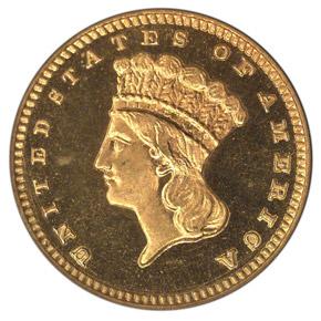 1883 G$1 PF obverse