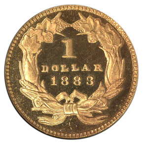 1883 G$1 PF reverse