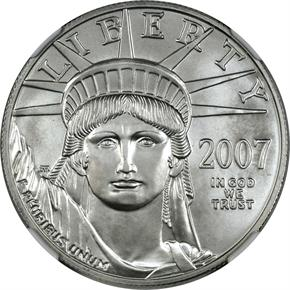 2007 W EAGLE P$100 MS obverse