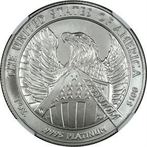 2007 W EAGLE P$100 MS reverse