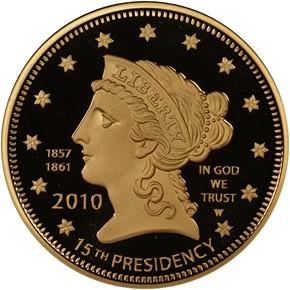 2010 W BUCHANAN'S LIBERTY G$10 PF obverse