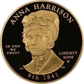 2009 W ANNA HARRISON G$10 PF obverse