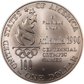 1996 D OLYMPICS ROWING S$1 MS reverse