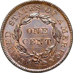 1834 1C MS reverse