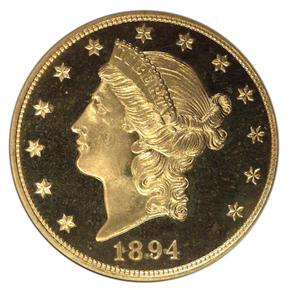 1894 $20 PF obverse