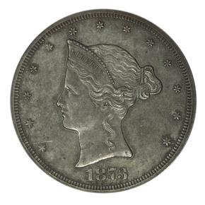 1873 J-1276 T$1 PF obverse