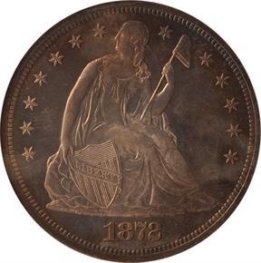 1872 J-1219 T$1 PF obverse