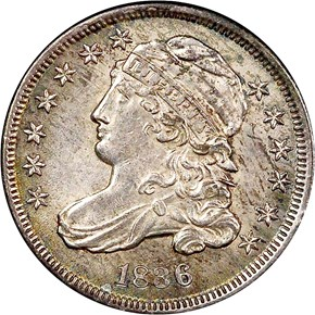 1836 10C MS obverse