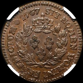 1767A FRENCH COLONIES 1S MS reverse