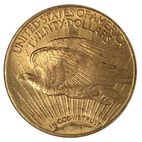 1922 $20 MS reverse