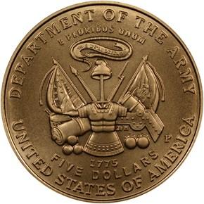 2011 P U.S. ARMY $5 MS reverse