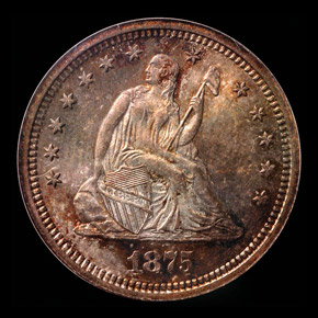 1875 S 25C MS obverse