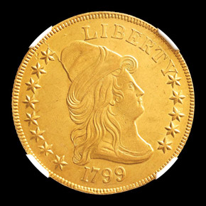 1799 $10 MS obverse