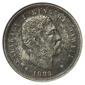 1883 HAWAII 10C MS obverse