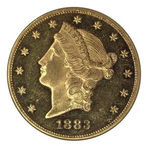 1883 $20 PF obverse