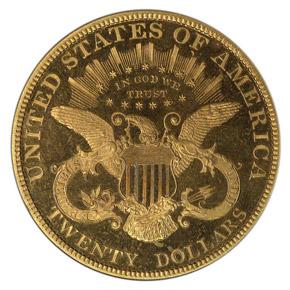 1884 $20 PF reverse