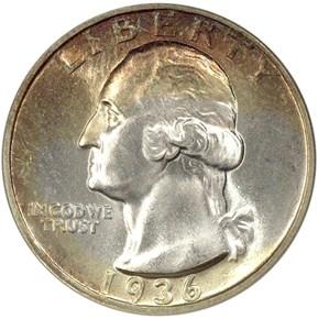 1936 D 25C MS obverse