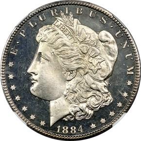 1884 CC S$1 PF obverse