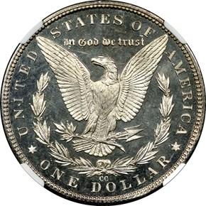1884 CC S$1 PF reverse