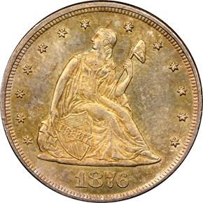 1876 20C MS obverse