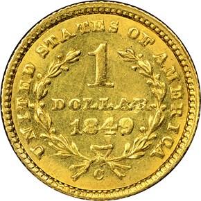 1849 C CLOSED WREATH G$1 MS reverse