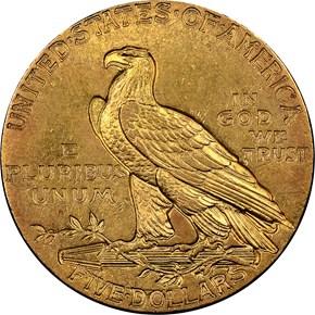 1914 $5 MS reverse