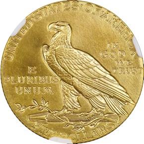 1910 $5 PF reverse